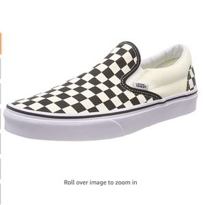 Black and White Platform Checkered Vans Size 8W